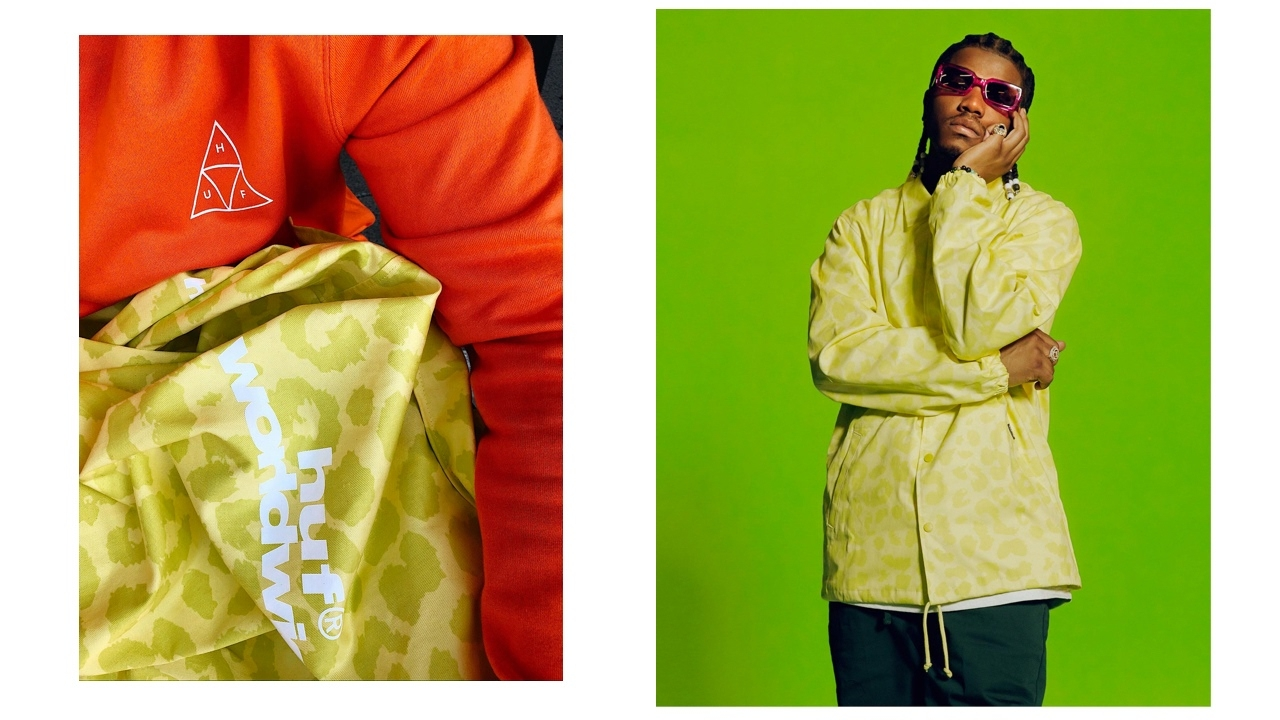 "HUF Neo Leopard Coach Jacket ""Hot Lime"""