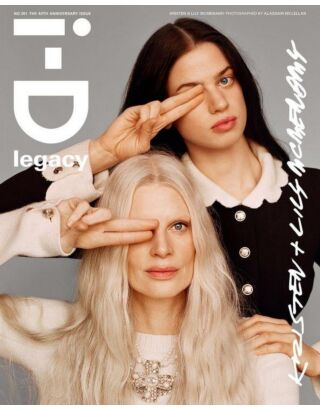 Журнал I-D aut 20, 40 years anniversary - Kristen and Luly MCMenamy