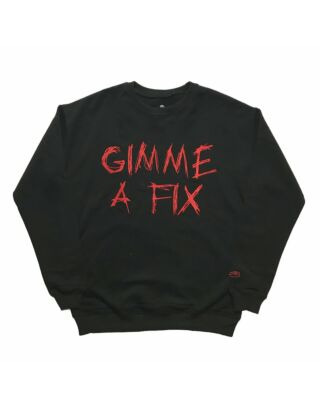 Крюнек SSUR Gimme A Fix Crewneck Black